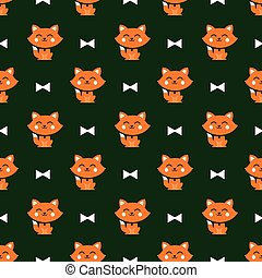 cats and ribbons pattern
