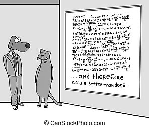 Cats Better Than Dog - Animal cartoon about a complex...