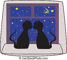 cats black falling in love
