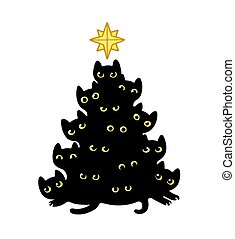 Cats Christmas tree