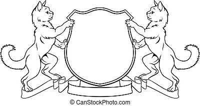 Cats Crest Coat of Arms Heraldic Shield