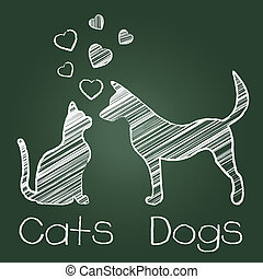 Cats Dogs Love Fondness