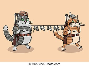 Cats hunters are great prey. They shot a lot of mice. - Cats...