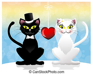 Cats in love - Two cats in love
