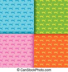 cats pattern. Vector illustration