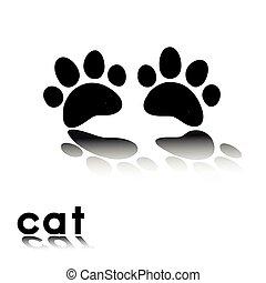 cat's paw prints