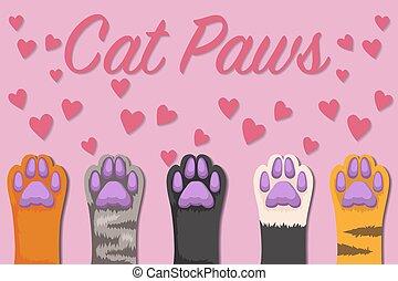 Cats paw set