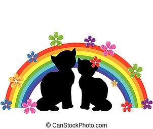 Cats Rainbow