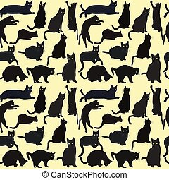 Cats seamless background