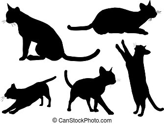 Cats - Various cat silhouettes