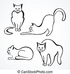 Cats vector collection - Collection of various cat...