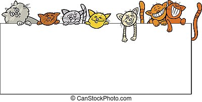 cats with frame cartoon design