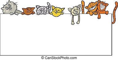 cats with frame cartoon design