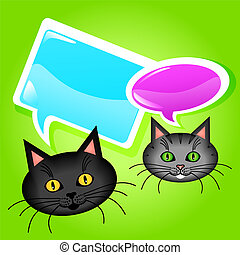 Cats with speech bubbles