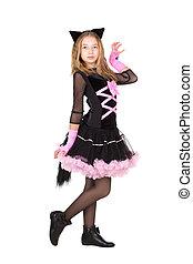 catsuit, girl, noir