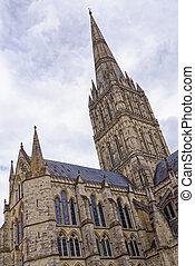 cattedrale, salisbury, wiltshire, inghilterra, -