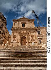 cattedrale, stile, rovine, barocco,  noto
