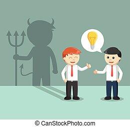 cattivo, idea, cooperazione, affari