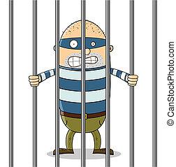 cattivo, prigione, tipo