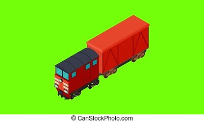 Cattle transportation icon animation cartoon best object on green screen background