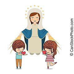 cattolico, disegno, amore