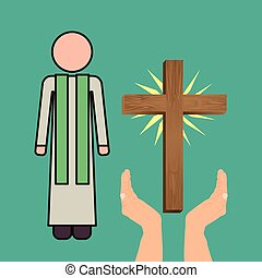 cattolico, disegno, religione