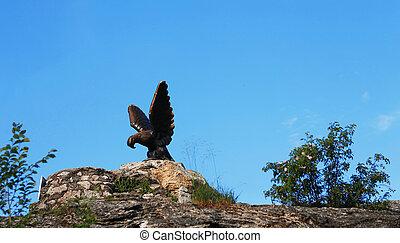 caucase, eagle., nord, pyatigorsk, repères, emblem.