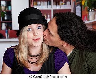 Caucasian and Native American couple
