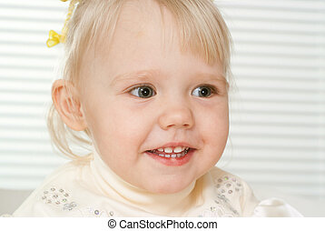 Caucasian beautiful girl sitting