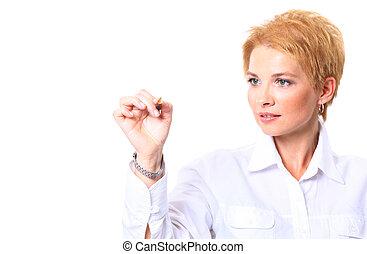 Caucasian blond business