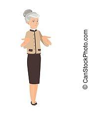 Caucasian business woman shrugging shoulders