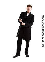 Caucasian businessman - An isolated shot of a caucasian ...