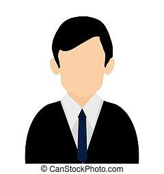 caucasian businessman icon - simple flat design caucasian...