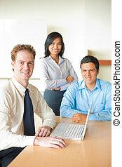 Caucasian Businessman Led Diverse Meeting