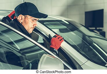 Caucasian Car Mechanic