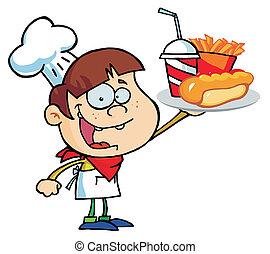 Caucasian Chef Boy