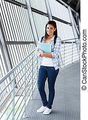 caucasian college student