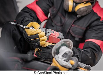 Contract with Power Tool - Caucasian Construction Contract...