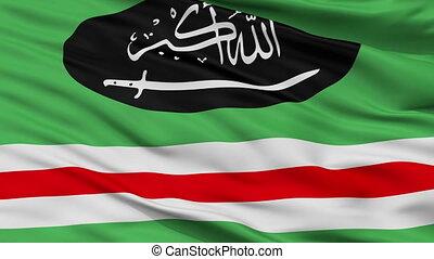 Caucasian Emirate Flag Closeup Seamless Loop - The Caucasian...