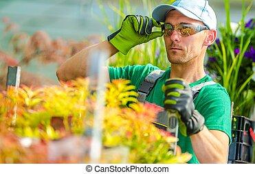Garden Store Worker in His 30s