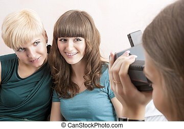 Caucasian Girlfriends With Dental Bracket System Installed Are B