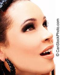 caucasian hispanic face of woman