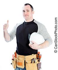 Caucasian man contractor 40 years old - Caucasian contractor...