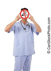 Caucasian man doctor no smoking - Middle aged caucasian man ...