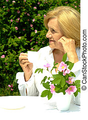 caucasian mulher, idoso