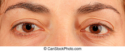 Caucasian old woman brown eyes - Woman face with brown eyes...