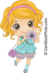 Caucasian Photographer - Illustration of a Young Caucasian...