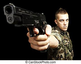 caucasian, soldat