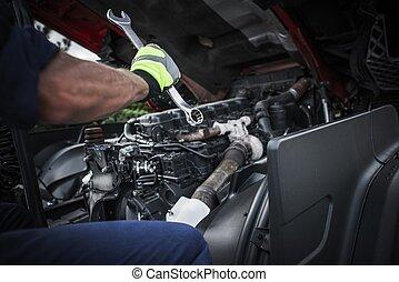 Repairing Semi Truck
