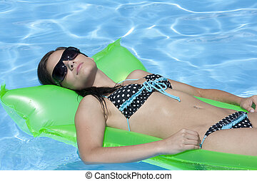 Caucasian Woman - Attractive slim and tanned young lady ...
